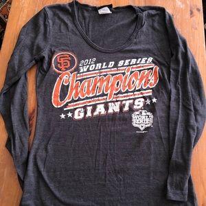 SF Giants 2012 World Champions T-shirt Sz Small